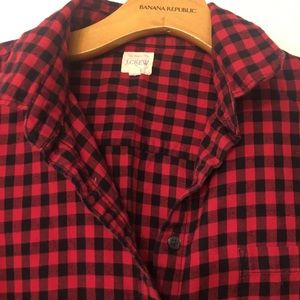 Jcrew flannel size medium like new condition